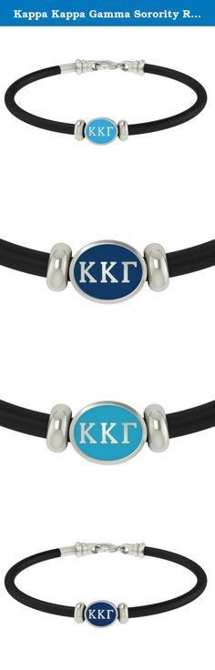 Kappa Kappa Gamma Sorority Rubber Bracelet. Kappa Kappa Gamma Sorority Rubber Bracelet is made in solid sterling silver charm. Our jewelry has the finest detail and are the highest quality of any Kappa Kappa Gamma Sorority bracelet available. In stock for fast free shipping and if for some reason you don't like it? Send the bracelet back for a full refund.
