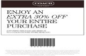 Coach Factory Store Promo Coupon Codes and Printable Coupons
