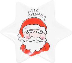 Vrolijk schaaltje in de vorm van een ster van Blond Amsterdam. Maak je kerstservies compleet met dit leuke bordje. Materiaal: aardewerk Diameter: 12 cm