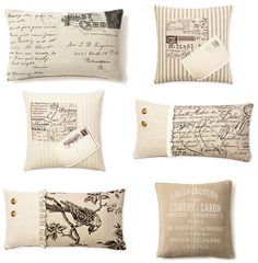 WANT IT :: A collection of pillows from French Laundry Home @ One Kings Lane that I absolutely adore & want! I particularly love the 4 w/o the ruffles.   #frenchlaundryhome #onekingslane