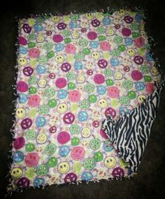 #smily #face #and #zebra #blanket #tie #blanket