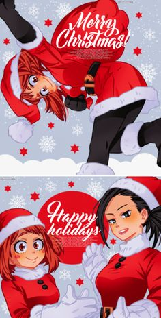 Merry Christmas Happy Holidays, Christmas Icons, Buko No Hero Academia, My Hero Academia Manga, Cute Drawlings, Holiday Icon, Hero Girl, My Hero Academia Episodes, Marvel Funny