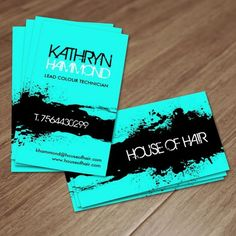 Customizable Hair Salon business card templates. Designed by Colourful Designs Inc