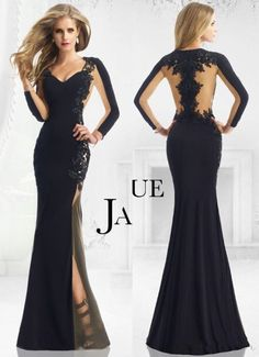 Mermaid Sexy Black Red Prom Dresses With Sweetheart Long Sleeve Lace Appliques Backless Evening Gown Vintage Formal Dresses