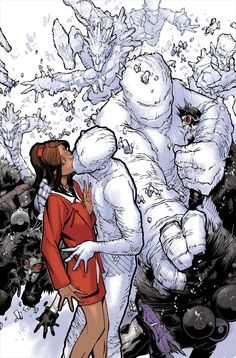 Kitty Pryde and Iceman by Chris Bachalo