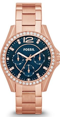 Fossil Watches, Women's Riley Multifunction Stainless Steel Watch - Rose #ES3341