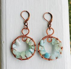 A personal favorite from my Etsy shop https://www.etsy.com/listing/245597090/aquamarine-beaded-wire-wrapped-copper