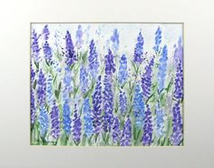 """Abstract Watercolor """"Lavender Fields Forever"""" by pattysgardenstudio"""