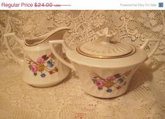 40 Off Vintage Aberdeen Syracuse China Creamer and by StarPower99, $14.40