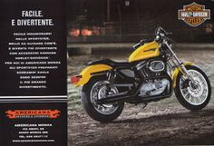 The Legend of HARLEY DAVIDSON SPORSTER: Americana Monza - 2001 Harley Davidson Sportster, Bike, Vehicles, Motorcycles, Ads, Photos, Bicycle, Trial Bike, Biking