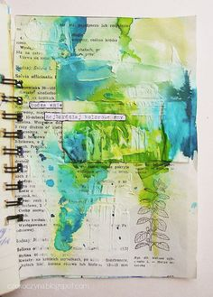 page by czekoczyna, via Flickr (link is to entire set of journal pages) - an Art Journal, so neat.