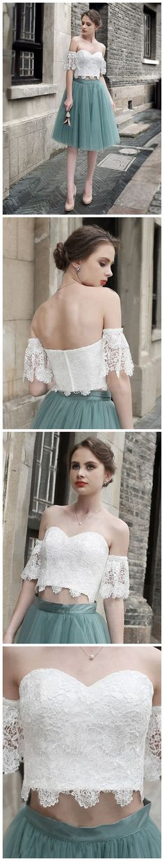 Charming Short Tulle Lovely Pink Green Prom Dresses, Teenage Prom Dress, Homecoming Dresses, PD0463 #fashion sposabridal#