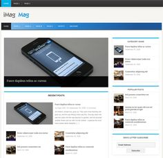 This free responsive WordPress magazine theme includes Twitter and Flickr widgets, a widgetized footer and sidebar, a clean design, threaded comments, and more.