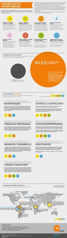 Con esta infografía queremos presentaros nuestro trabajo, y como ayudamos a conseguir los objetivos del milenio.