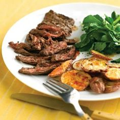 London Broil With Crispy Potatoes And Peppers Recipes — Dishmaps