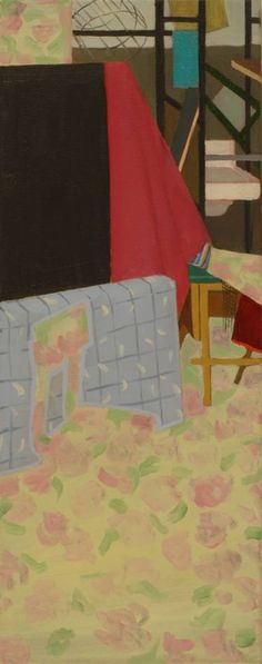 "Saatchi Art Artist Laura Ozola; Painting, ""Interior with rose pattern"" #art"