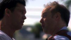 "Burn Notice 4x16 ""Dead or Alive"" - Michael Westen (Jeffrey Donovan) & Pete Jackman (Raphael Sbarge)"