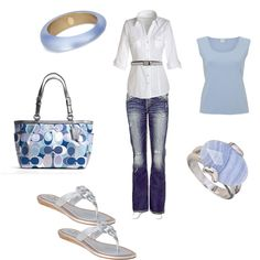 A crisp white shirt and denim is always a fresh look, and see the belt??