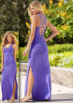 Detail back maxi dress in the VENUS Line of Dresses for Women