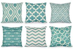 Top Finel Durable Cotton Linen Square Decorative Throw Pillows Cushion Covers Cases Pillowcases for Sofa 18 inch Set of 6 Series * Continue to the product at the image link. (This is an affiliate link) Green Cushion Covers, Chair Cushion Covers, Outdoor Cushion Covers, Cushions On Sofa, Outdoor Throw Pillows, Seat Covers, Outdoor Sofa, Outdoor Furniture, Outdoor Seating