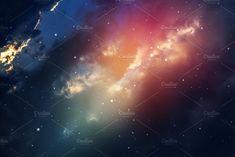 Night sky with stars. by nednapa on @creativemarket