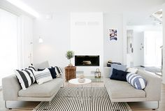 TIKAU Marine stripe carpet is a good choice if you want a touch of a maritime. Picture avd.fi