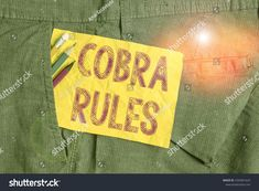 Most Current Photos Word Writing Text Cobra Rules Business Stock