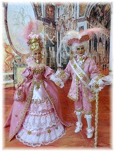 History Rokkoko Barbie Ken Male doll -- Marquis Delacroix OOAK by Bethboul Barbie Gowns, Barbie Dress, Baby Dolls, Girl Dolls, Girl Doll Clothes, Barbie Clothes, Beautiful Barbie Dolls, Barbie Collection, Barbie Friends