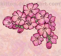 Tattoo: flowers by ~kitton on deviantART