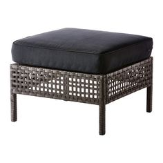 IKEA KUNGSÖ/KUNGSHOLMEN Footstool, outdoor Black-brown Durable, weather-resistant and maintenance-free since it's made of plastic rattan and rustproof...