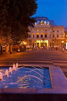 The Slovak National Theatre, Bratislava, Slovakia Places To Travel, Places To Go, Schengen Area, Bratislava Slovakia, Continental Europe, Heart Of Europe, National Theatre, Central Europe, Hungary