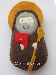 Saint Benedict Felt Saint Softie. $18.00, via Etsy.