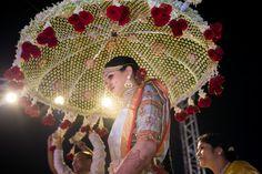 Desi Wedding Decor, Wedding Stage Decorations, Wedding Mandap, Engagement Decorations, Wedding Crafts, Bride Entry, Umbrella Decorations, Flower Garland Wedding, Umbrella Wedding