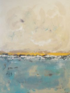 Large Abstract Ocean Seascape Original Painting by lindadonohue