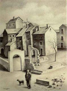 Pueblo destruido (1942), por Ángel López-Obrero