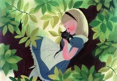 """Alice in Wonderland"" Concept art by Mary Blair."