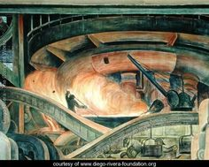 Detroit Industry-8,  1933 - Diego Rivera - www.diego-rivera-foundation.org