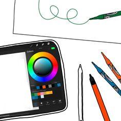 Digitaal tekenen of met pen en papier? Dit vind ik de voordelen! - Lieke van Indigo Leeuw Twijfel je over de aanschaf van een iPad of tablet om digitaal te tekenen? Is digitaal visueel werken iets voor jou? Ik vertel je mijn belangrijkste voordelen en nadelen van digitaal tekenen. En waarom ik ook regelmatig nog met pen en papier teken in mijn werk! Tech Logos