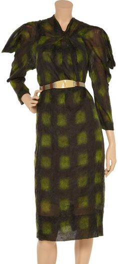 batwing+gown+formal   Marni Batwing Textured Mussola Dress in Green - Lyst