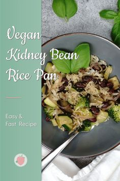 Vegan Kidney Bean Rice Pan 🤩 If you're looking for a quick & easy meal for dinner, this could be a good choice for you! This delicious rice pan is creamy, aromatic and, of course, super healthy 😌 Check out my blog for the recipe! #kidneybeans #rice Sugar Free Recipes Healthy, Vegan Recipes, Quick Easy Meals, Easy Dinner Recipes, Clean Eating Diet, Kidney Beans, Main Dishes, Ethnic Recipes, Blog