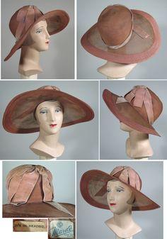 1920s Peach Garden Party Summer Cloche by Mardé