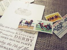 Allie's Vintage-Inspired Kentucky Derby Party Invitations