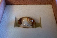 Brown Swirl Glass Charm Bead 925 Threaded on Etsy, $1.75