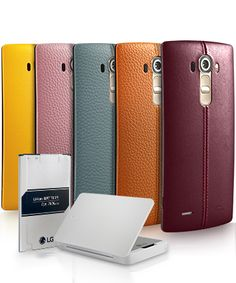 The removable, replaceable battery in the LG G4 lets you stay on the go while another battery charges.1
