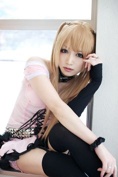 CosRain.Com Iori's COSPLAY - Misa Amane  find a sexy and beautiful lady to talk and date, visit here