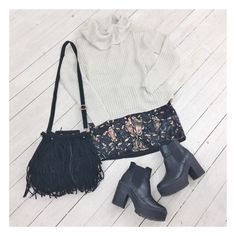 Hold Me Tight Knit, After Midnight Beaded Skirt and our Olsen Fringe Bag. Shop @ Little-Lies.com