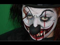 Cómo hacer un maquillaje de payaso maléfico para halloween - Face painting Halloween Evil Clown