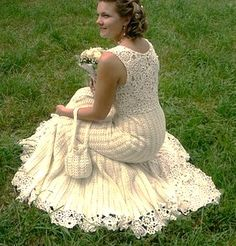 vestido de novia de crochet