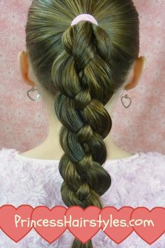 Hairstyles For Girls - Hair Styles - Braiding - Princess Hairstyles!   4 strand braid..easy!