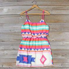 Native Sea Dress, Sweet Women's Bohemian Clothing